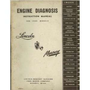 1949 LINCOLN MERCURY Engine Diagnosis Service Manual