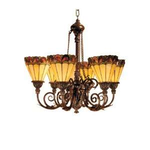 Dale Tiffany TH100935 Ashford Hanging Light, Mica Bronze and Art Glass