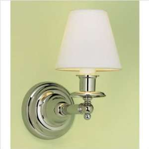 Backbay 1 Light Sconce   Polished Nickel Finish/Black Fabric Shade