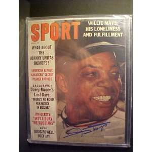 Willie Mays San Francisco Giants Autographed August 1963