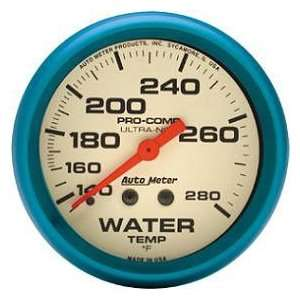 Ultra Nite Water Temperature Gauge 2 5/8 in. 140   280 Deg