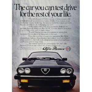 1983 Alfa Romeo GTV 6 Sports Car SOHC V 6 Dion Price Ad
