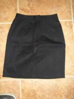 CLIO Black Womens Cotton Stretch Career Casual Skirt 8