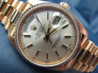 Rolex President Day Date 18k Gold Single Quick Ref 18038 #438