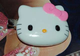 Big Cute Hello kitty Pink Bow Hair Alligator Clip/Right