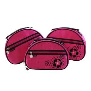 New Adorable Daisy Love Hot Pink Train Case  3 Piece Set