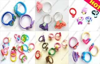 120pcs 6styles wholesale jewelry Mixed lots childrens polymer clay