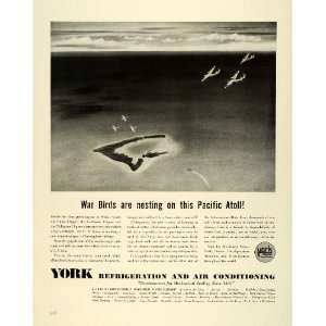 Ad York Refrigeration Air Conditioning WWII Food Conservation Navy Air