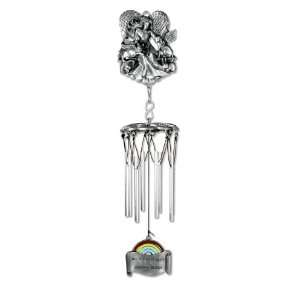 RAINBOW BRIDGE PET REMEMBRANCE WIND CHIME Patio, Lawn