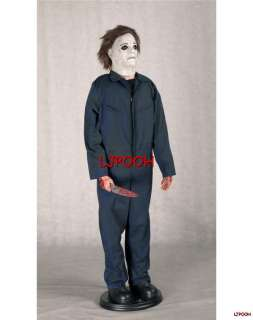 LIFESIZE ANIMATED MICHAEL MYERS HALLOWEEN FIGURE PROP