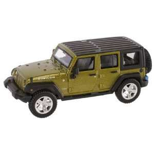 HO RTR 2007 Jeep Wrangler Unlimited, Green Toys & Games