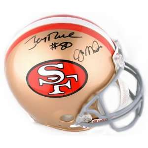 Jerry Rice & Joe Montana Signed Helmet   Authentic   Rice