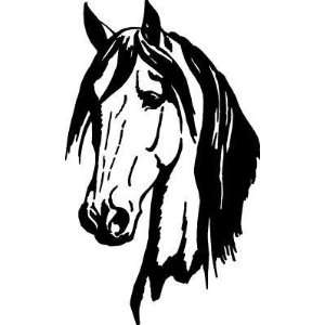 Horse Head Trailer Decals Pro Grade Vinyl Car Truck Wall Pick Color 2