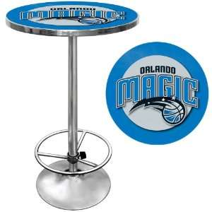 Orlando Magic NBA Chrome Pub Table   Game Room Products Pub Table NBA
