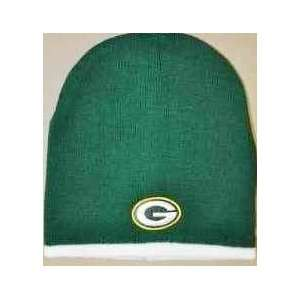 Green Bay Packers White Tip NFL Beanie