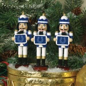 Indianapolis Colts Nutcracker Ornaments 3pk NFL Football
