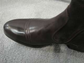 SHOE BROWN LEATHER SUEDE FUR LINED BOOTS SOFT SOLE COMFORT