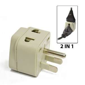Universal 2 in 1 Plug Adapter Type B for Japan, US Electronics