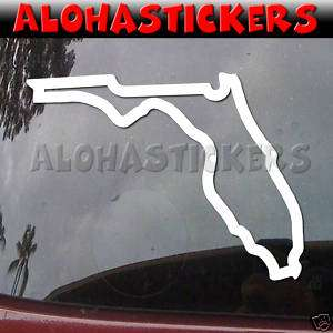 FLORIDA STATE Outline Vinyl Decal Window Sticker Q15