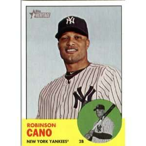 2012 Topps Heritage 264 Robinson Cano   New York Yankees (ENCASED MLB