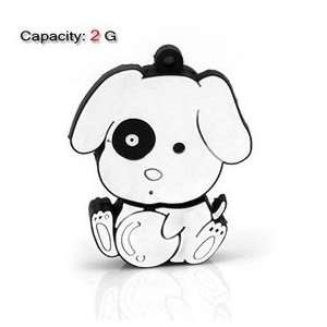 2GB Cute Dog Shape Flash Drive (White) Electronics