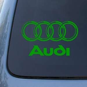 AUDI   Vinyl Car Decal Sticker #1766  Vinyl Color Green