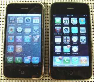 Apple iPhone 3GS 16GB A1303 Black / iPhone 1st gen 8GB A1203 Silver