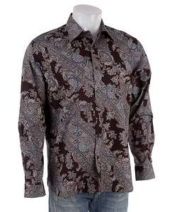Michael Kors Mens Paisley Long sleeve Dress Shirt