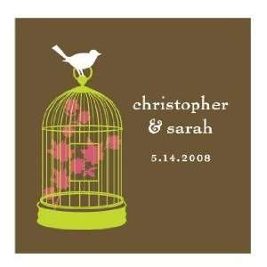Bird Cage Square Personalized Stickers (8 colors) Toys