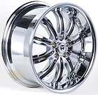 DVINCI GUSTO 18 CHROME RIMS WHEELS CHRYSLER 300 300C AWD