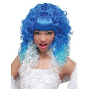 California Costumes Rap Princess (Blue/White) Adult Wig / White/Blue