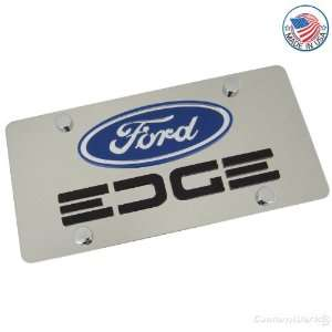 Ford Logo & Edge Name On Polished License Plate