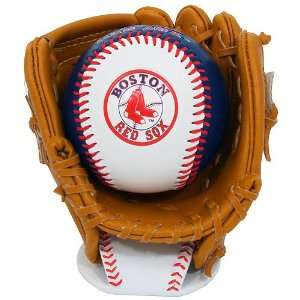 K2 Boston Red Sox Baseball and Glove Set With Stand