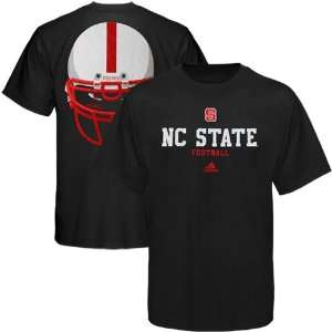 adidas North Carolina State Wolfpack Eyes T Shirt   Black (Small