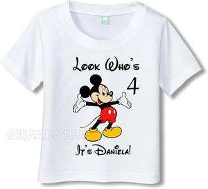 Mickey Mouse T Shirt Personalized w/ Your name or text
