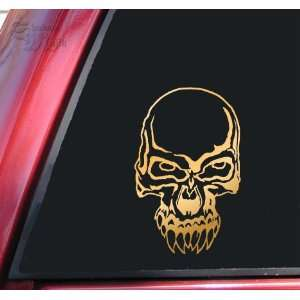 Demon Skull #2 Vinyl Decal Sticker   Mirror Gold