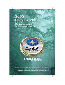 Polaris ATV Owners Manual 2005 Phoenix 200