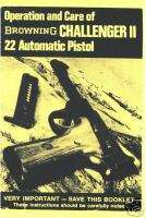 Browning CHALLENGER 2 Semi Automatic Pistol Gun Manual