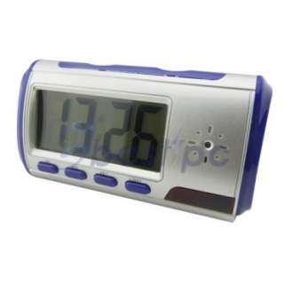 New Spy Electronic Digital Alarm Clock Camera Motion Video DVR