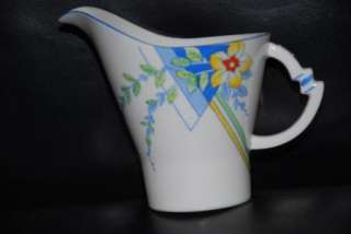 ROYAL ALBERT CROWN CHINA ~  ART DECO  DESIGN MILK JUG