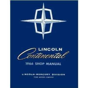 1966 LINCOLN CONTINENTAL Shop Service Manual Book