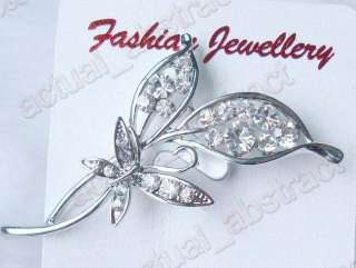 Wholesale 24pcs crystal rhinestone brooch pin free p&p