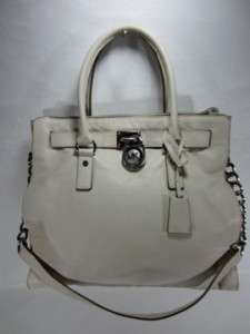 NEW MICHAEL KORS Vanilla LARGE Hamilton LEATHER North South TOTE BAG