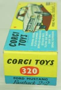 CORGI TOYS 320 FORD MUSTANG FASTBACK 2+2 MINT BOXED