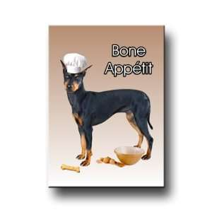 Manchester Terrier Bone Appetit Kitchen Chef Fridge Magnet