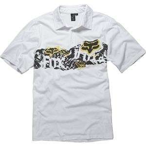 Fox Racing Ripped Polo   Large/White Automotive