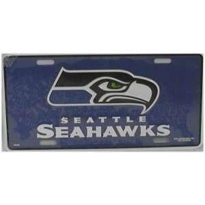 NFL SEATTLE SEAHAWKS METAL License Plate Tag Sports