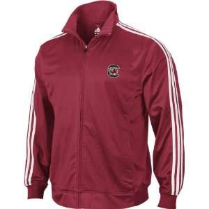 Carolina Gamecocks adidas Red 3 Stripe Track Jacket