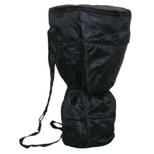 Waterproof Djembe Backpack Bag, Padded Black Nylon