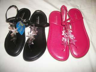 NWT NEW GIRLS SONOMA FLOWERS SANDALS SHOES 13 1 2 YOUTH